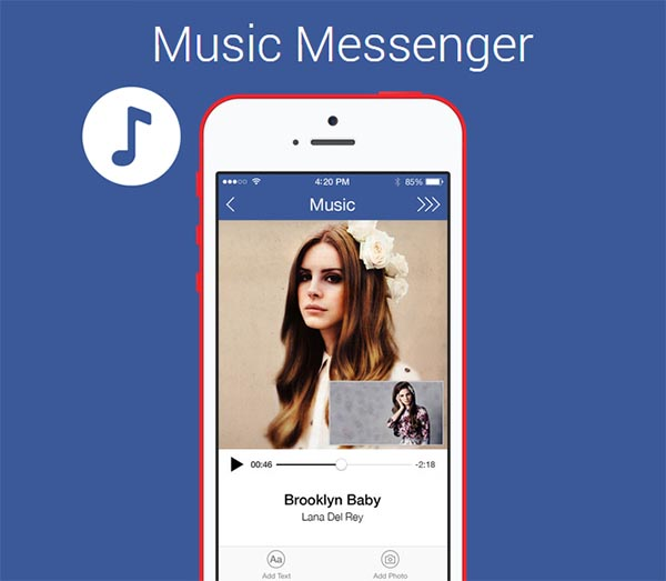 music-messenger android informa