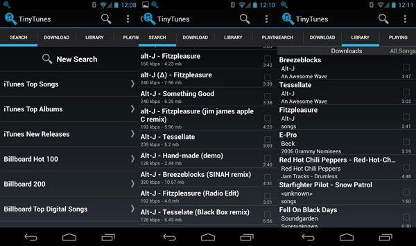 TinyTunes-android-app-screens