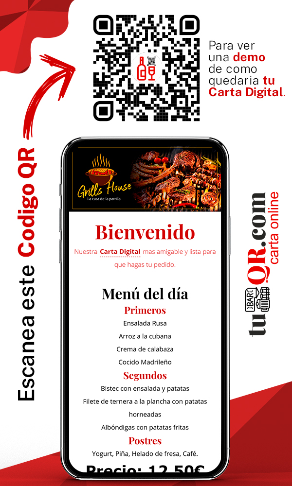 tu bar qr demo restaurane